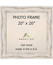 "Amanti Art Alexandria Whitewash 20"" X 20"" Opening Wall Picture Photo Frame"