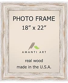 "Amanti Art Alexandria Whitewash 18"" X 22"" Opening Wall Picture Photo Frame"
