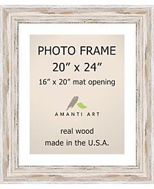 "Amanti Art Alexandria Whitewash 20"" X 24"" Matted 16"" X 20"" Opening Wall Photo Frame"
