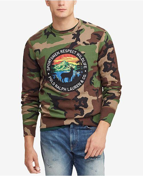 032328212 Polo Ralph Lauren Men's Great Outdoors Sportsmen's Fleece Sweatshirt ...