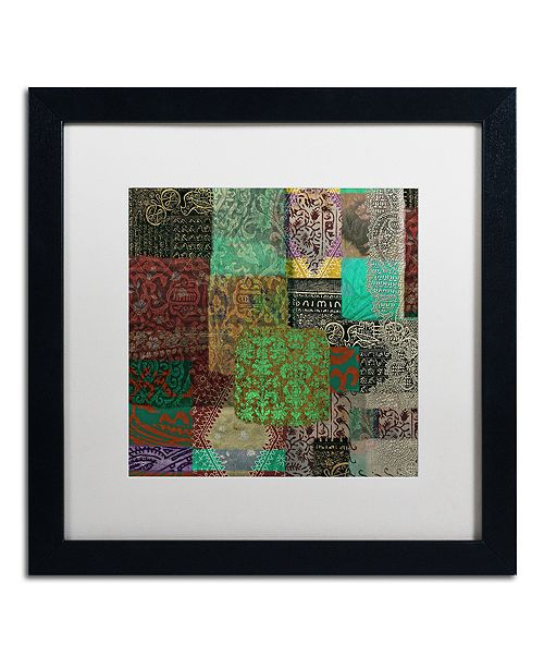 "Trademark Global Color Bakery 'Afrikan Batik Iii' Matted Framed Art, 16"" x 16"""