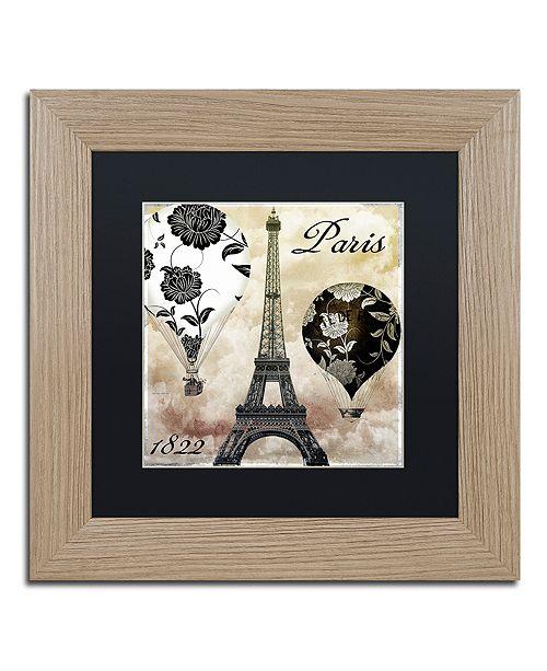 """Trademark Global Color Bakery 'Ceil Jaune I' Matted Framed Art, 11"""" x 11"""""""