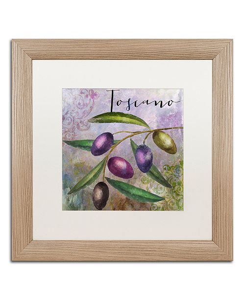 "Trademark Global Color Bakery 'Olivia Ii' Matted Framed Art, 16"" x 16"""