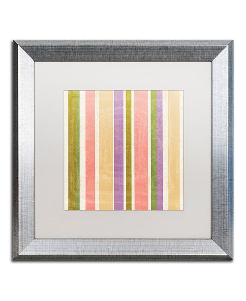 "Trademark Global Color Bakery 'Annabelle Lee Iv' Matted Framed Art, 16"" x 16"""