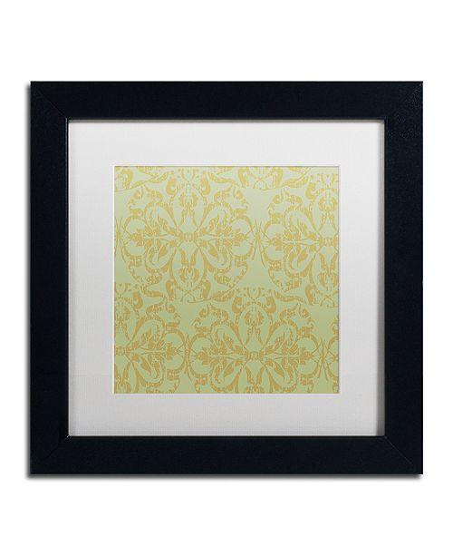 """Trademark Global Color Bakery 'Annabelle Lee V' Matted Framed Art, 11"""" x 11"""""""