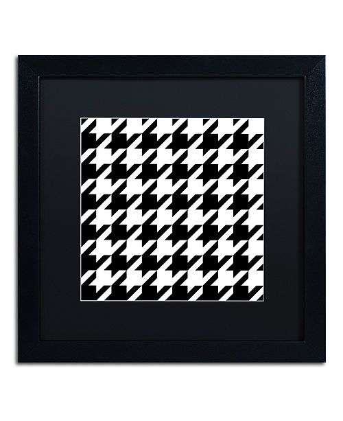 "Trademark Global Color Bakery 'Houndstooth Ii' Matted Framed Art, 16"" x 16"""