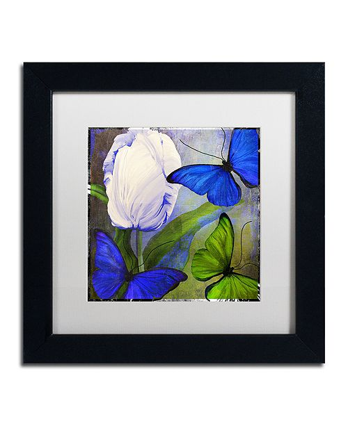 "Trademark Global Color Bakery 'Morphos One ' Matted Framed Art, 11"" x 11"""