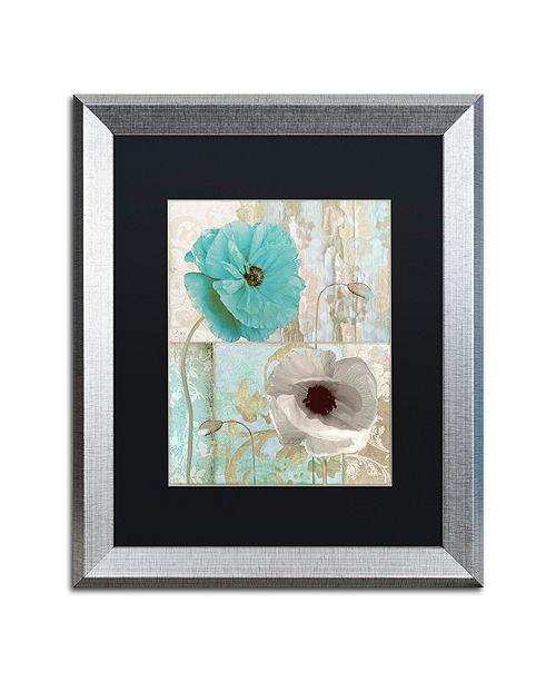 "Trademark Global Color Bakery 'Beach Poppies Ii' Matted Framed Art, 16"" x 20"""