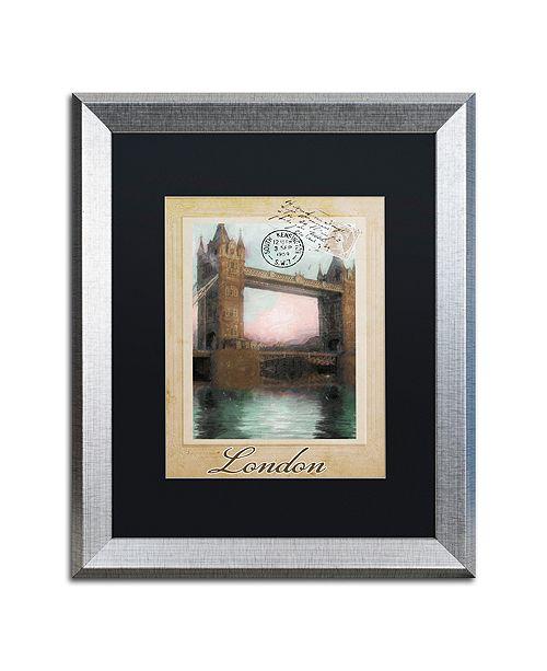 "Trademark Global Color Bakery 'European Vacation Iii' Matted Framed Art, 16"" x 20"""