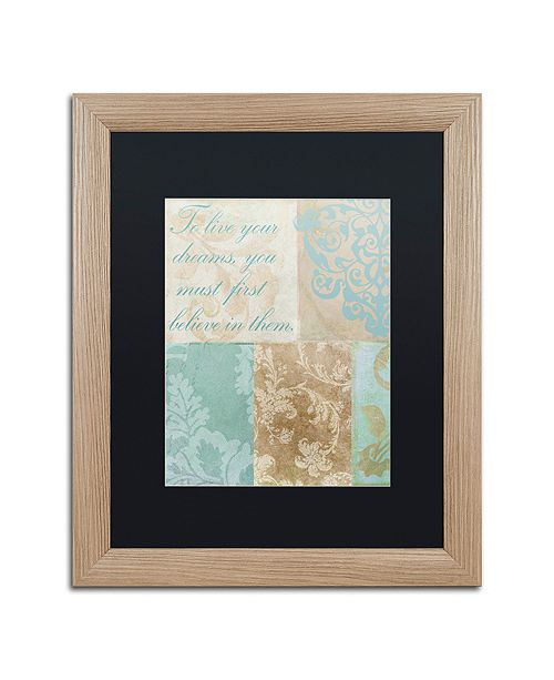 "Trademark Global Color Bakery 'Live Your Dreams' Matted Framed Art, 16"" x 20"""
