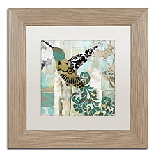 Color Bakery 'Hummingbird Batik Ii' Matted Framed Art