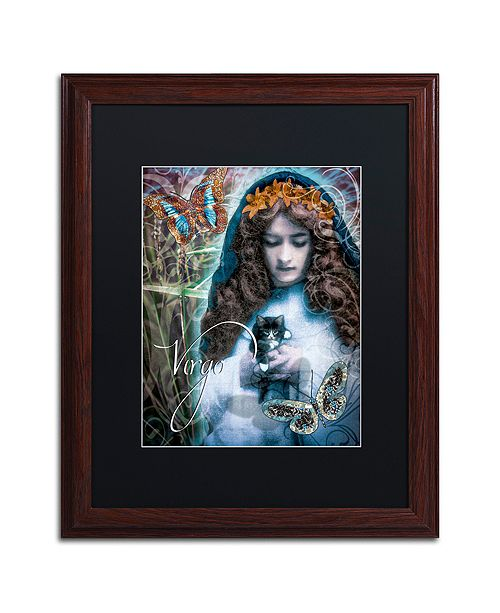 "Trademark Global Color Bakery 'Art Nouveau Zodiac Virgo' Matted Framed Art, 16"" x 20"""