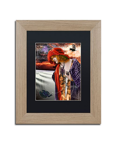 "Trademark Global Color Bakery 'Art Nouveau Zodiac Scorpio' Matted Framed Art, 11"" x 14"""