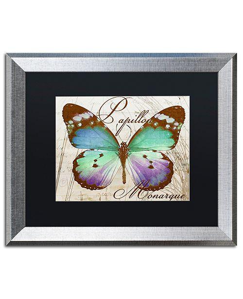 """Trademark Global Color Bakery 'Papillon I' Matted Framed Art, 16"""" x 20"""""""