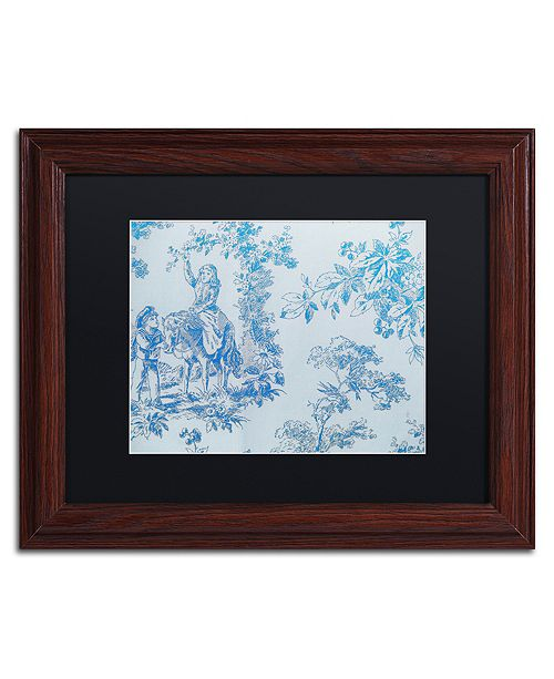 "Trademark Global Color Bakery 'Toile Fabrics V' Matted Framed Art, 11"" x 14"""