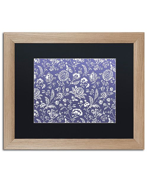 "Trademark Global Color Bakery 'Toile Fabrics X' Matted Framed Art, 16"" x 20"""