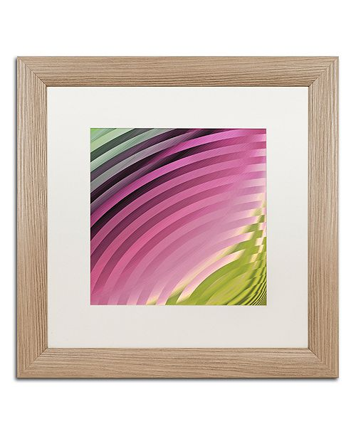 "Trademark Global Color Bakery 'Satin Ii' Matted Framed Art, 16"" x 16"""