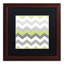 Color Bakery 'Calyx Chevron' Matted Framed Art