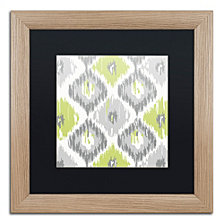 Color Bakery 'Calyx Ikat' Matted Framed Art