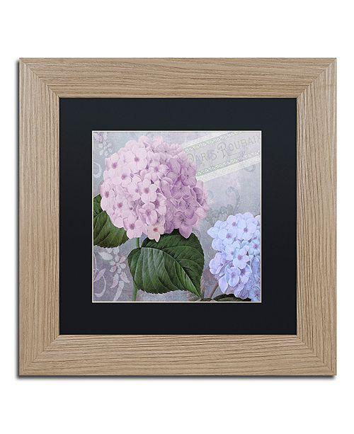"""Trademark Global Color Bakery 'Hortensia 2' Matted Framed Art, 11"""" x 11"""""""
