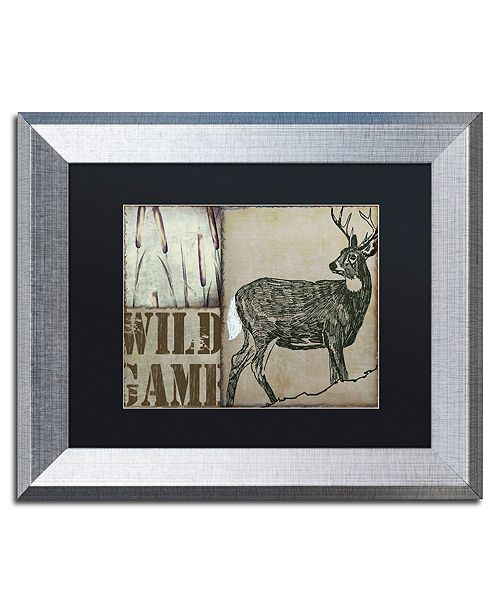 "Trademark Global Color Bakery 'Deer With White Tail' Matted Framed Art, 11"" x 14"""