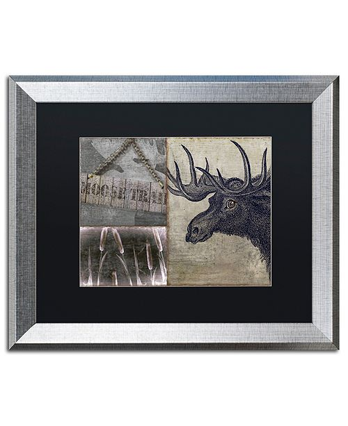 "Trademark Global Color Bakery 'Moose' Matted Framed Art, 16"" x 20"""