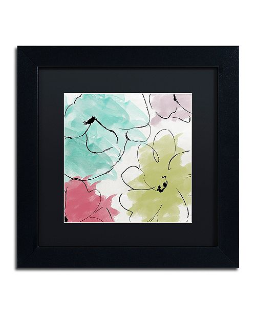 """Trademark Global Color Bakery 'Kasumi Two' Matted Framed Art, 11"""" x 11"""""""