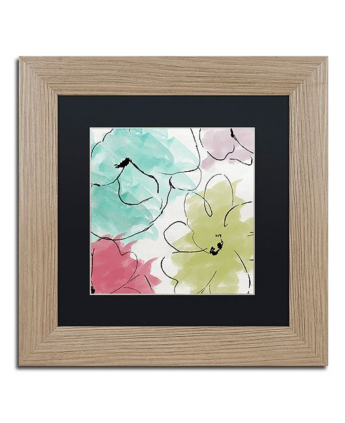 "Trademark Global Color Bakery 'Kasumi Two' Matted Framed Art, 11"" x 11"""
