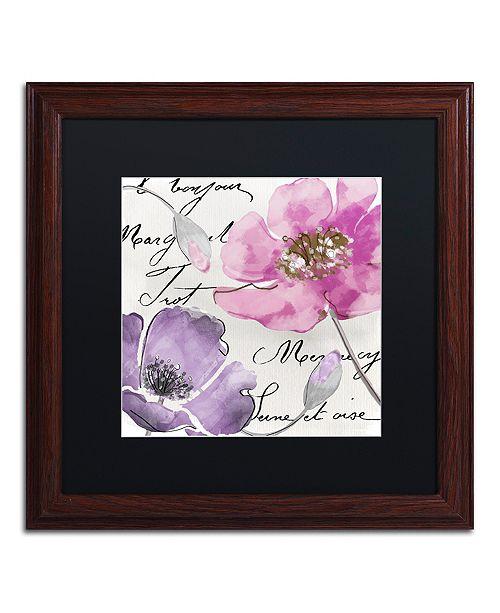 "Trademark Global Color Bakery 'Fleurs De France I' Matted Framed Art, 16"" x 16"""