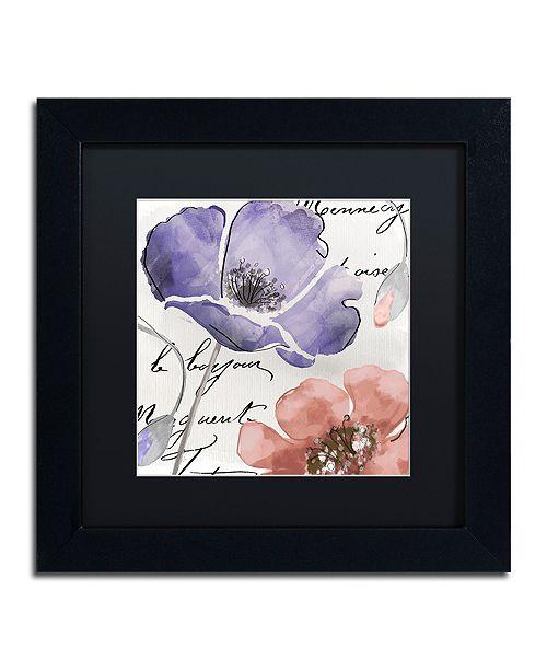 "Trademark Global Color Bakery 'Fleurs De France Iii' Matted Framed Art, 11"" x 11"""