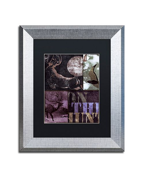 "Trademark Global Color Bakery 'On The Hunt Ii' Matted Framed Art, 11"" x 14"""