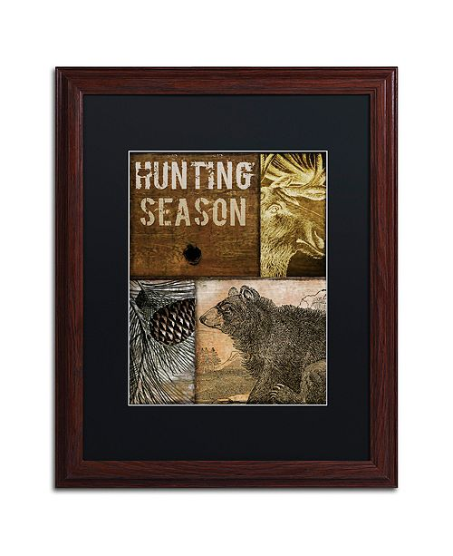"Trademark Global Color Bakery 'Hunting Season Iv' Matted Framed Art, 16"" x 20"""