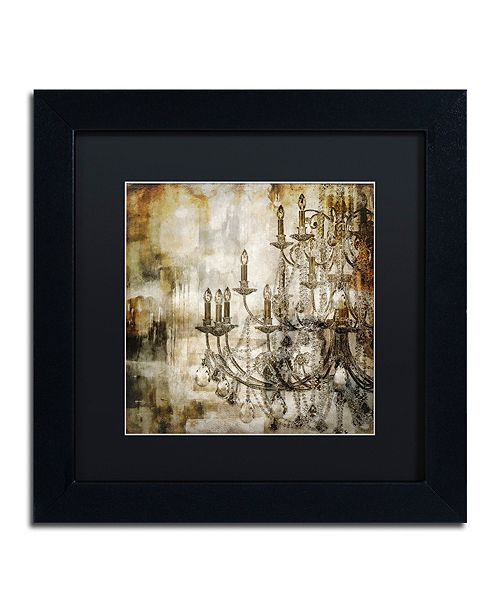 "Trademark Global Color Bakery 'Lumi'res Ii' Matted Framed Art, 11"" x 11"""
