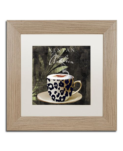"Trademark Global Color Bakery 'Afrikan Coffees I' Matted Framed Art, 11"" x 11"""