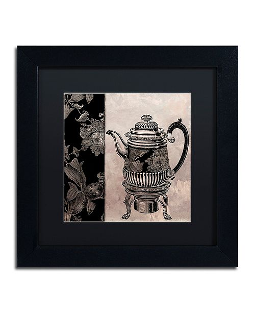 """Trademark Global Color Bakery 'Victorian Table Iii' Matted Framed Art, 11"""" x 11"""""""