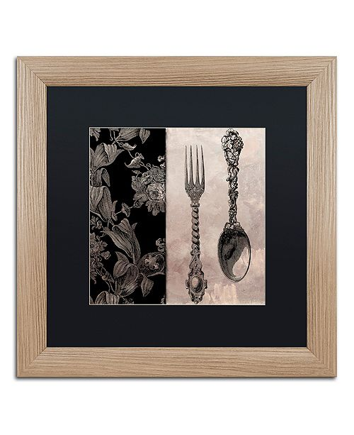 """Trademark Global Color Bakery 'Victorian Table Iv' Matted Framed Art, 16"""" x 16"""""""