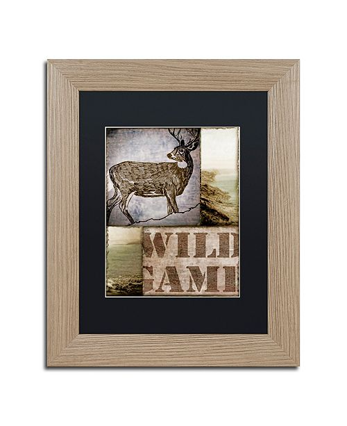 "Trademark Global Color Bakery 'Wild Game' Matted Framed Art, 11"" x 14"""