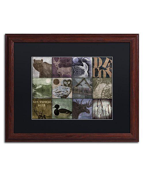"""Trademark Global Color Bakery 'Hunting Season V' Matted Framed Art, 16"""" x 20"""""""