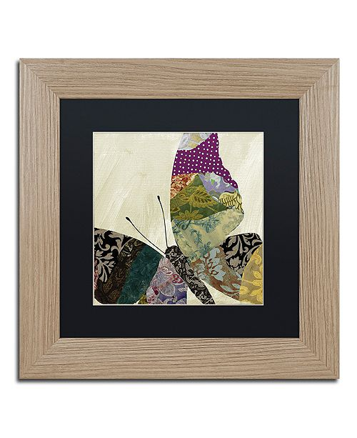 "Trademark Global Color Bakery 'Butterfly Brocade I' Matted Framed Art, 11"" x 11"""