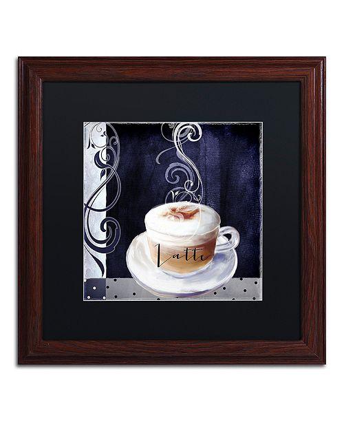 """Trademark Global Color Bakery 'Cafe Blue Ii' Matted Framed Art, 16"""" x 16"""""""