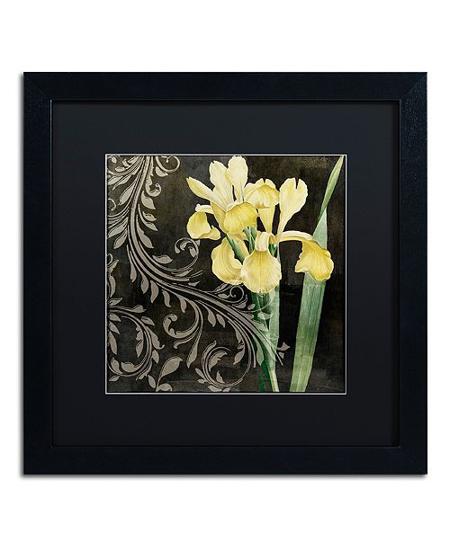 """Trademark Global Color Bakery 'Ode To Yellow Ii' Matted Framed Art, 16"""" x 16"""""""
