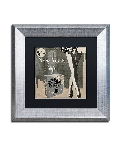 "Trademark Global Color Bakery 'New York Style Ii' Matted Framed Art, 11"" x 11"""