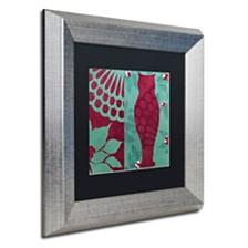 """Color Bakery 'Woodland Winter I' Matted Framed Art, 11"""" x 11"""""""