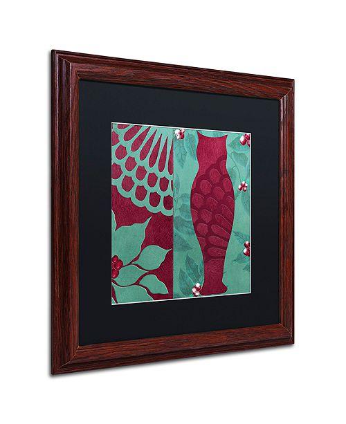 "Trademark Global Color Bakery 'Woodland Winter I' Matted Framed Art, 16"" x 16"""