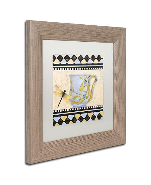 "Trademark Global Color Bakery 'Bistro Nouveau Ii' Matted Framed Art, 11"" x 11"""