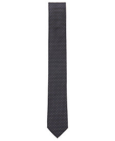 BOSS Men's Micro-Check Silk Tie