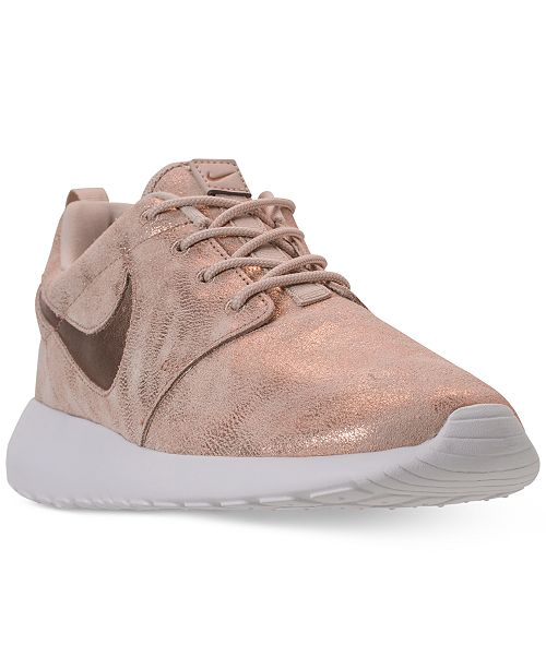 on sale c6ac2 c6337 Nike Women s Roshe One Premium Casual Sneakers from Finish ...