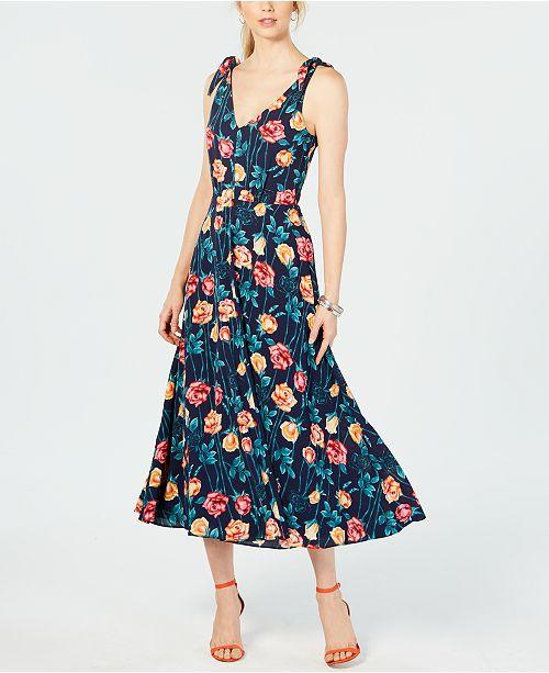 Betsey Johnson Floral-Print Midi Dress