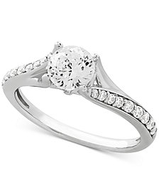 Swarovski Cubic Zirconia Ring in Sterling Silver