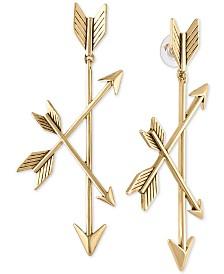 RACHEL Rachel Roy Gold-Tone Triple-Arrow Drop Earrings